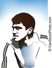 calciatore, giovane