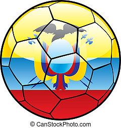 calcio, bandiera, palla, ecuador