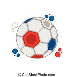 calcio, colori, palla, francia