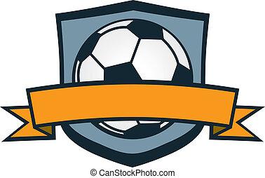 calcio, cresta, squadra
