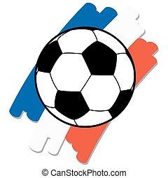 calcio, nazionale, palla, colori, francia