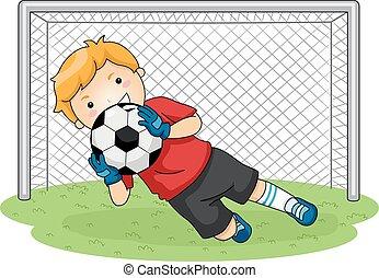 calcio, portiere