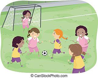calcio, ragazze