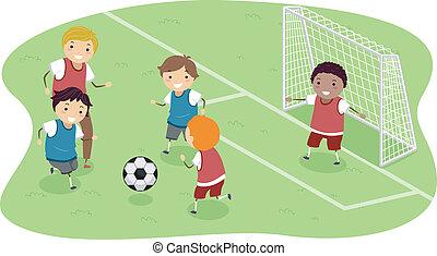 calcio, stickman