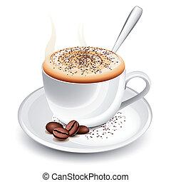 caldo, cappuccino, tazza