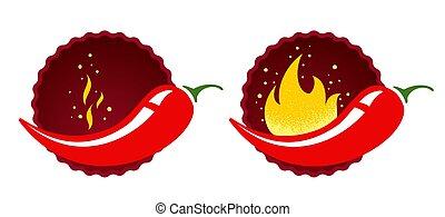 caldo, pepe peperoncini rossi