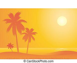 caldo, spiaggia, viaggiare, fondo