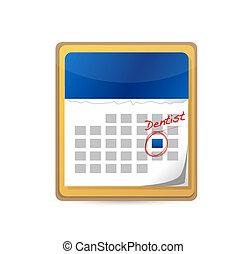calendar., appuntamento dentista