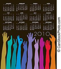 calendario, 2010