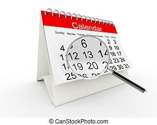 calendario, 3d, desktop