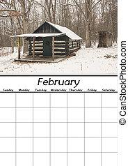 calendario, febbraio, vuoto