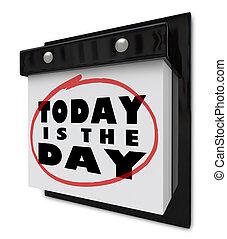 calendario muro, -, giorno, oggi
