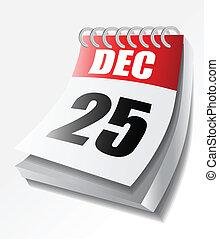 calendario, vettore, illustrazione