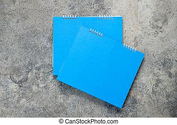 calendario, vuoto, blu, vuoto