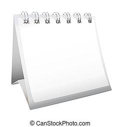 calendario, vuoto, scrivania