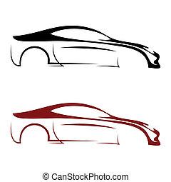 calligraphic, automobile, logos