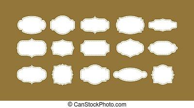 calligraphic, cornice, retro, disegno, vendemmia, lavagna, set, fondo., elements.