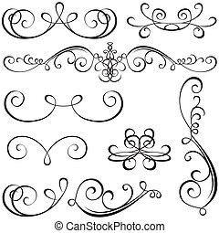calligraphic, elementi