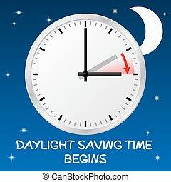 cambiamento, luce giorno, tempo, risparmio
