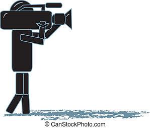 cameraman, figura bastone