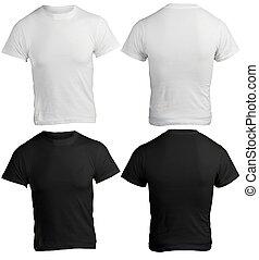 camicia, uomini, nero, sagoma, vuoto, bianco
