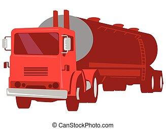 camion autocisterna, retro, cemento