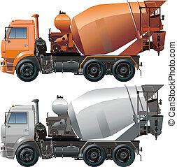 camion, cemento