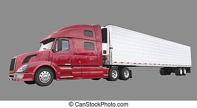 camion, nolo, isolato