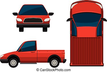 camion, rosso