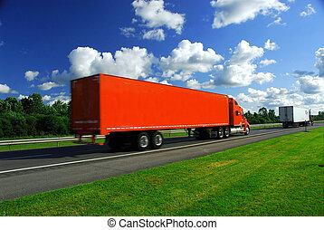 camion, velocità, autostrada