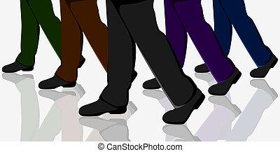 camminare, persone affari
