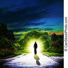 camminare, sfondi, astratto, spirituale, eden.