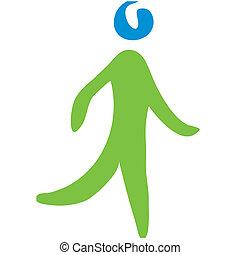 camminare, simbolo