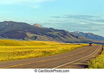 campagna, montana, soleggiato