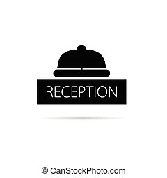 campana, vettore, ricezione, illustrazione, icona