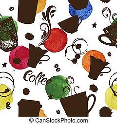 campanelle, modello, caffè, seamless