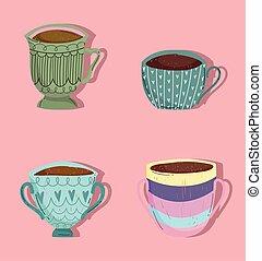 campanelle, set, caffè