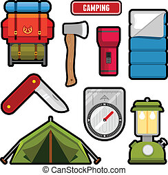 campeggio, grafica