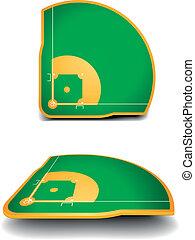 campi, baseball, prospettiva