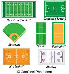 campi, set, sport, games.
