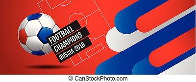 campionato, tazza, football, 2018, fondo, mondo, calcio, russia