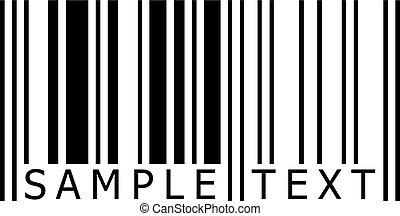 campione, testo, barcode