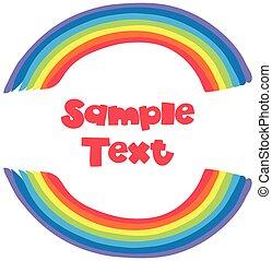 campione, testo, fondo, arcobaleno