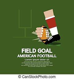campo, americano, scopo, football.