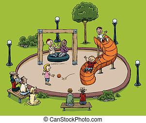 campo di gioco, parco