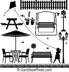 campo, esterno, parco, iarda, giardino
