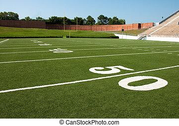 campo, football, americano