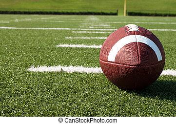 campo, football americano, closeup