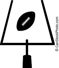 campo, football americano, scopo