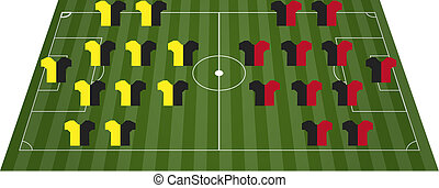 campo, football, campo di calcio